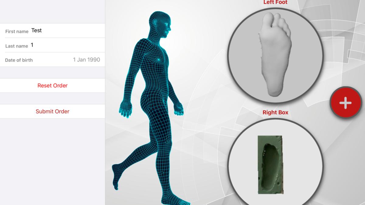 Scansione del piede con App ParoScan 3D